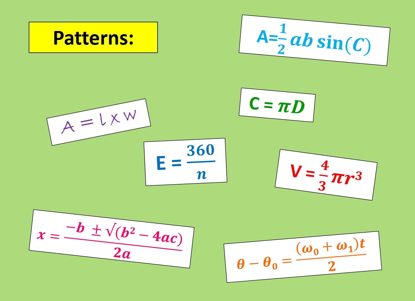 Patterns = Algebra