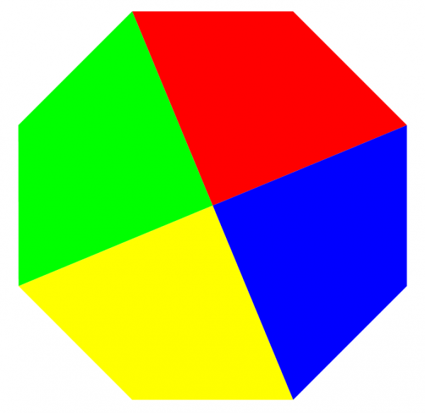 octagon from quadrilaterals dissection