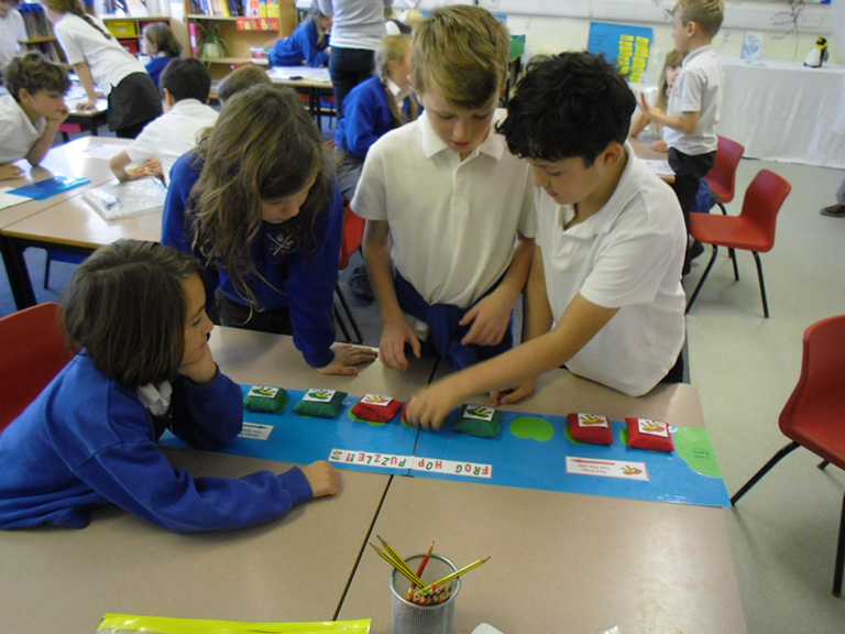 House of Maths Workshops The Frog Hop Puzzle