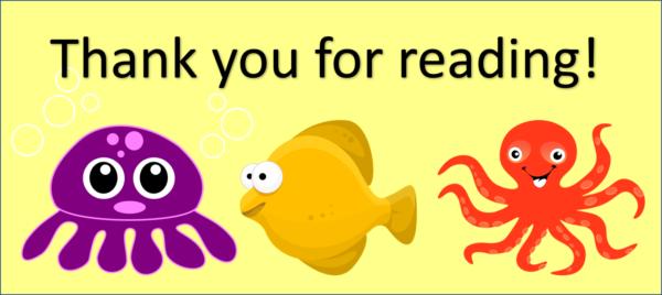 Sea creatures Thank you
