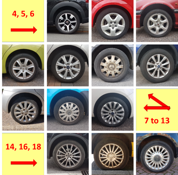 Car Wheels from 4 to 18