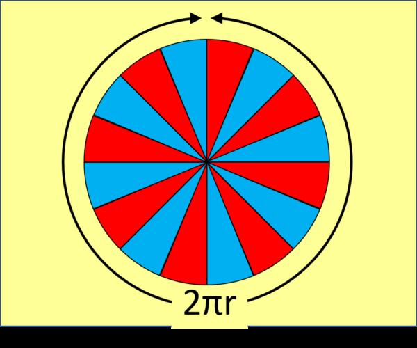 circle split into sectors